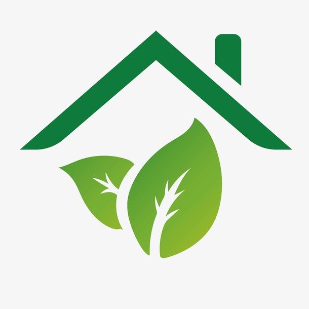 绿色环保房子小图标设计