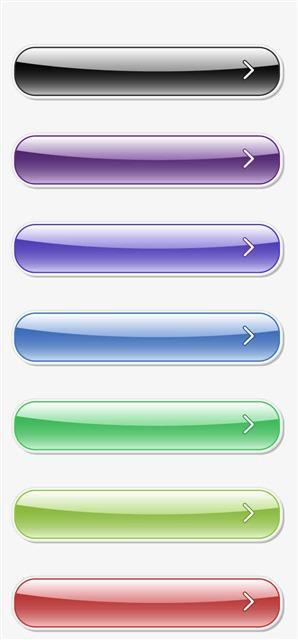 彩色水晶按钮箭头