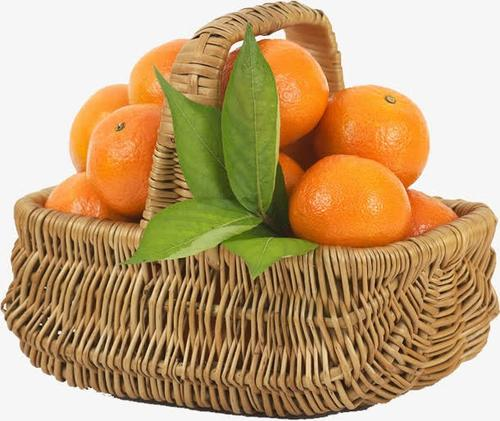 一筐橘子实拍图片