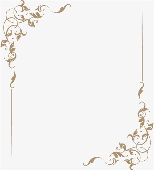 优雅欧式花纹边框