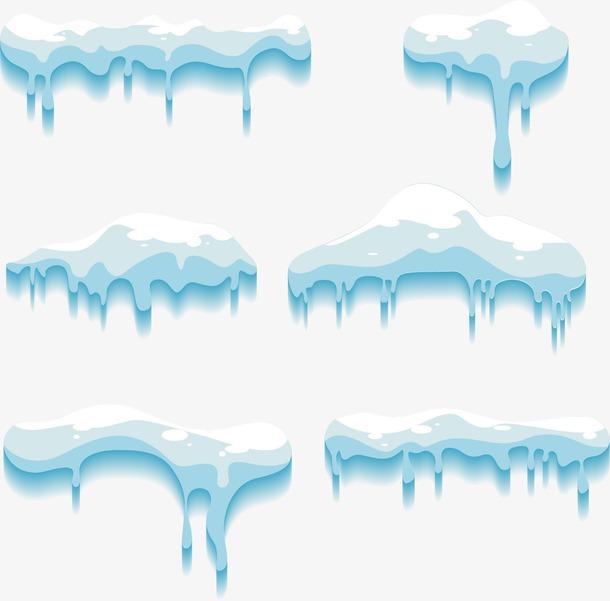 冬季卡通雪堆免抠png
