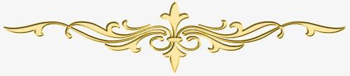 欧式金色花纹分割线