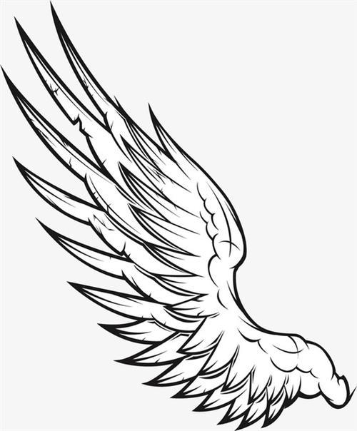 天使之翼简笔画