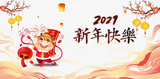 2021新年快乐横幅