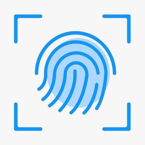 指纹认证线性图标