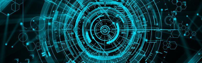 科幻動感幾何背景