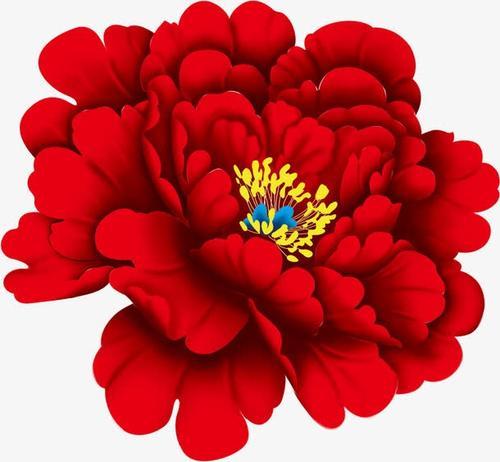 红色喜庆牡丹花