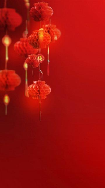 中国红元旦灯笼背景图