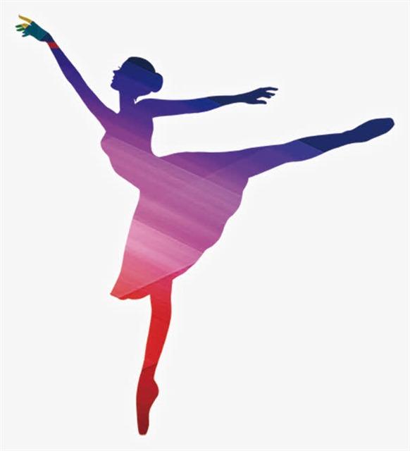 芭蕾舞者舞姿剪影