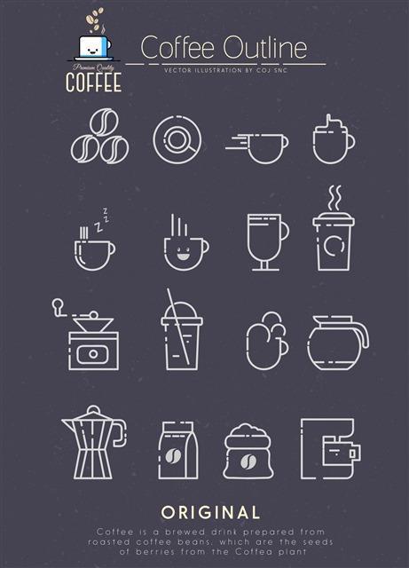 咖啡元素图案