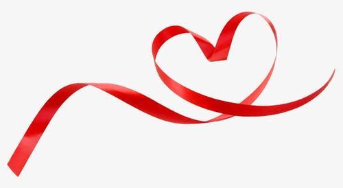 爱心红丝带图片