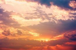 落日彩霞天空背景