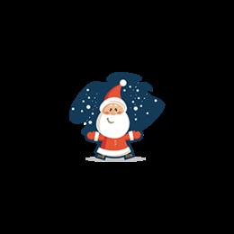 卡通圣诞老人装饰图标