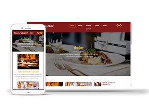 美食酒店网站模板