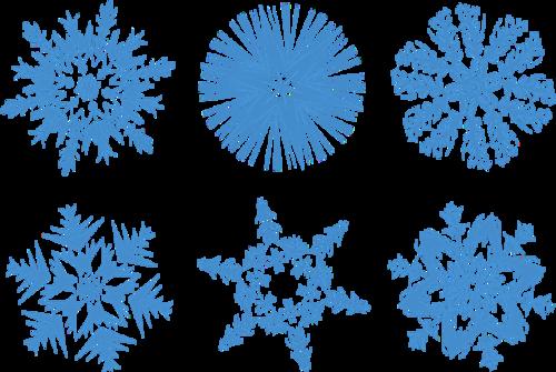 蓝色圣诞节雪花图案