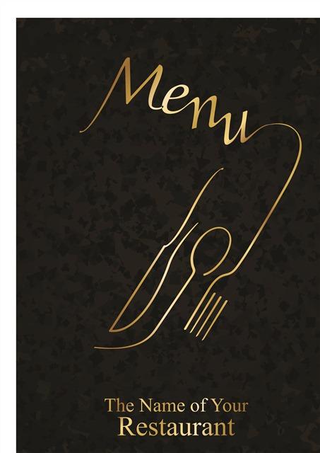 黑金高级菜单封面设计