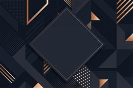 黑金大气几何电商背景