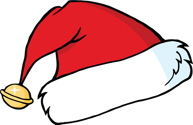 可爱手绘矢量圣诞帽
