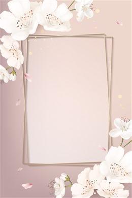 粉色樱花边框背景