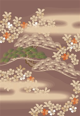 中式古风花卉背景