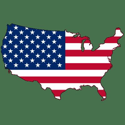 矢量美国国旗地图