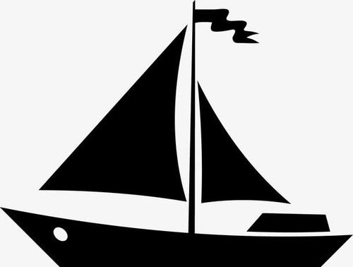帆船免抠矢量图