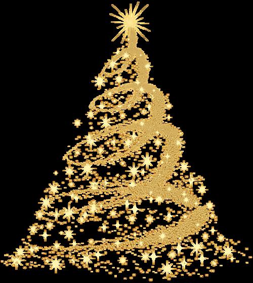 金色创意圣诞树