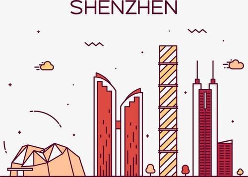 手绘深圳建筑图片