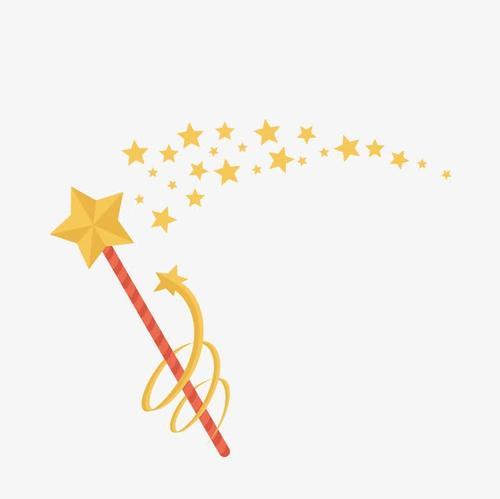 星星卡通魔法棒元素