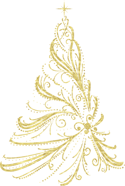 金色发光圣诞树
