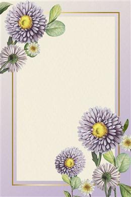野雏菊边框背景