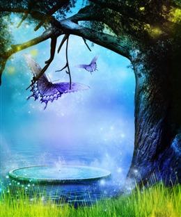 森林童话背景图