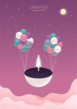 粉色二次元少女图片