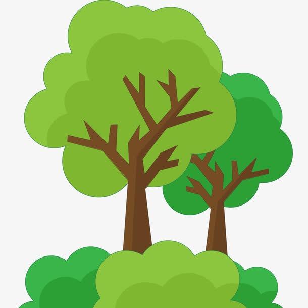 卡通树木ps素材图片