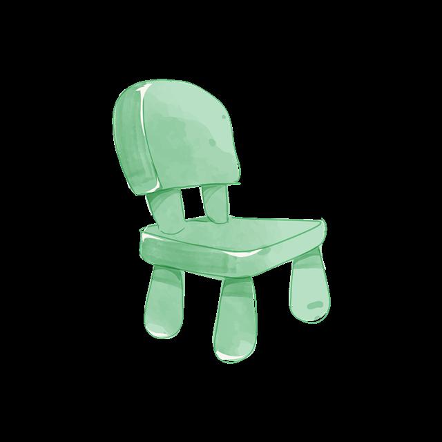 手绘儿童椅