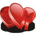 红色爱心礼物盒装饰图片