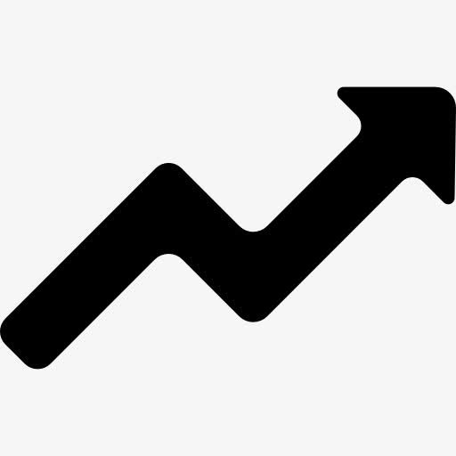 排名上升PPT图标