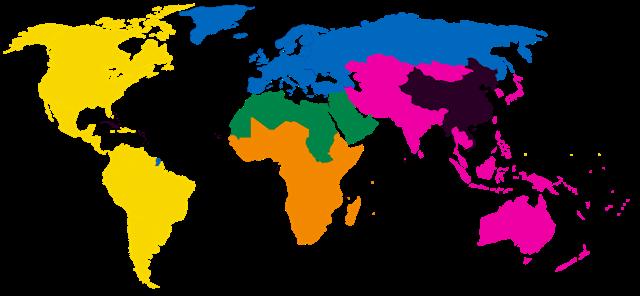 世界彩色地图