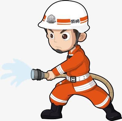 消防员卡通矢量图