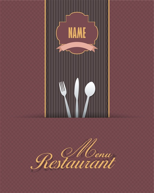 西式菜单封面模板
