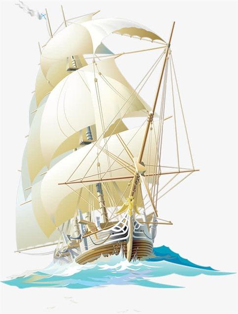 扬帆起航海报素材