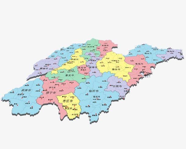 山东省地图各市县地图
