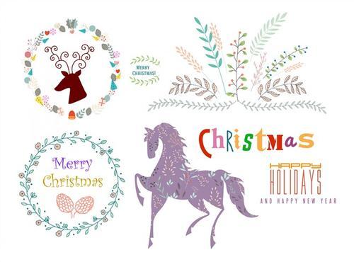 圣诞节徽章标签图片