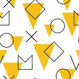 现代简约几何图形背景墙