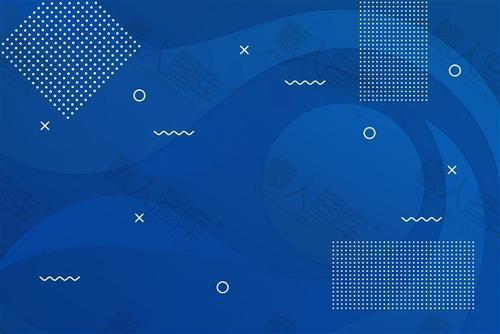 电商风蓝色几何背景图