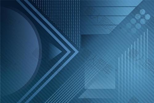 蓝色商务科技风背景图
