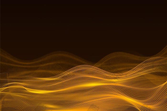 金色波浪科技风背景图