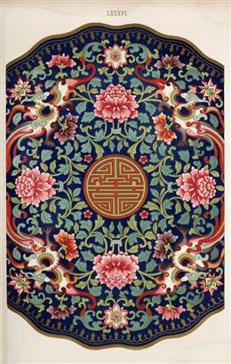 中国风民族花纹背景