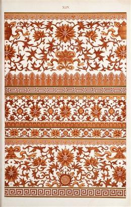 民族花纹传统纹样背景