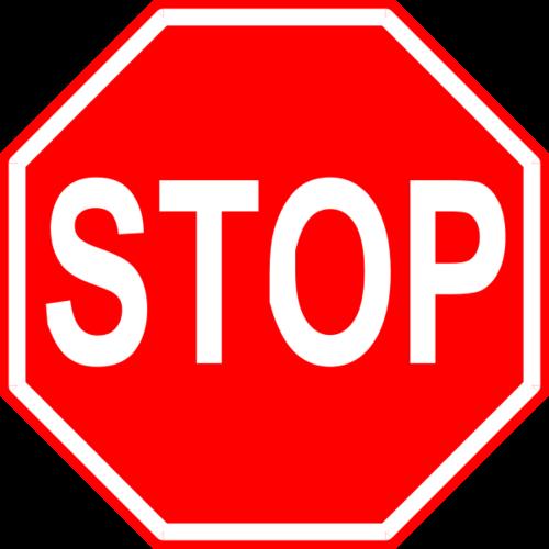 红色停车标志